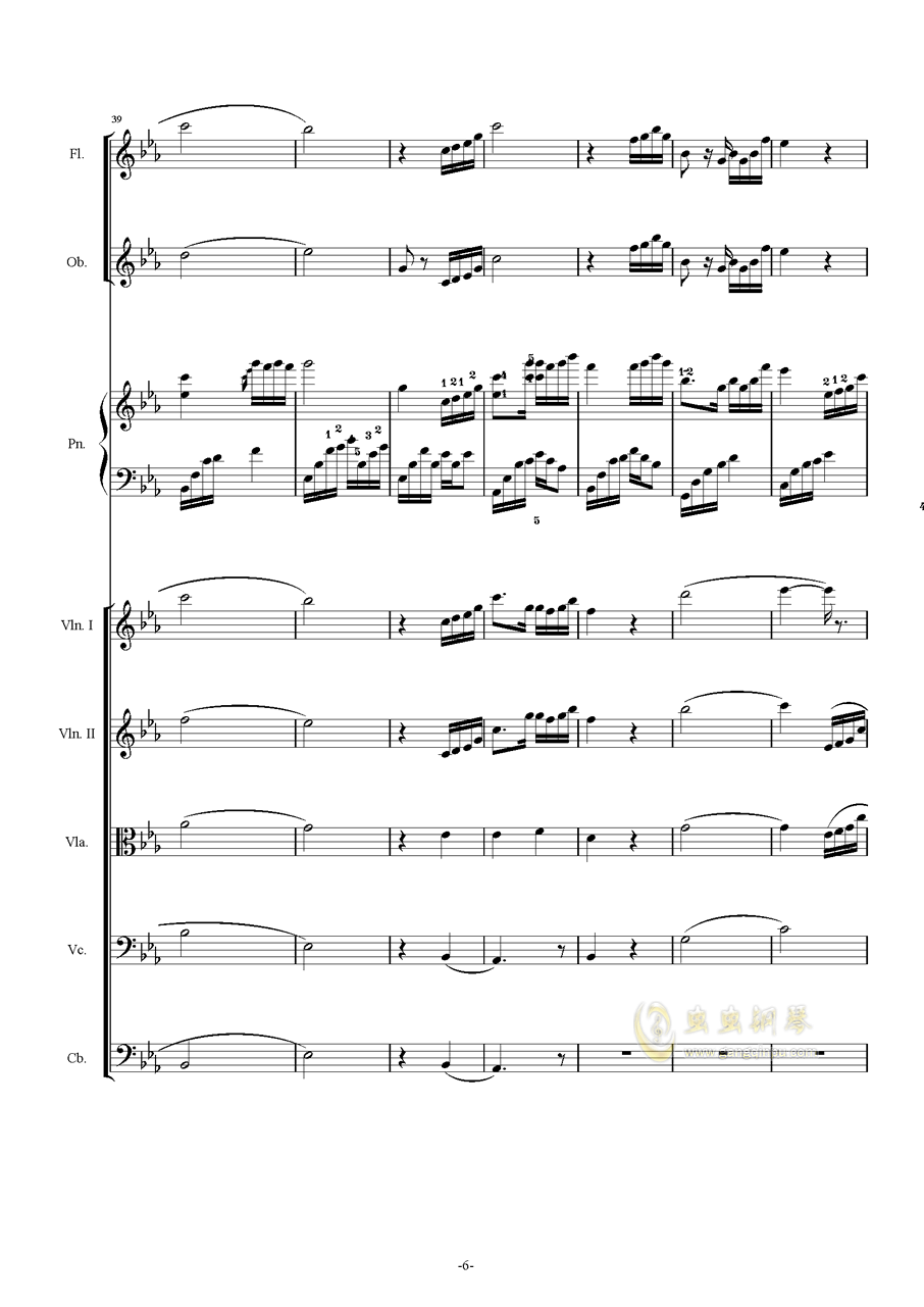 夜的钢琴曲五钢琴谱 第6页