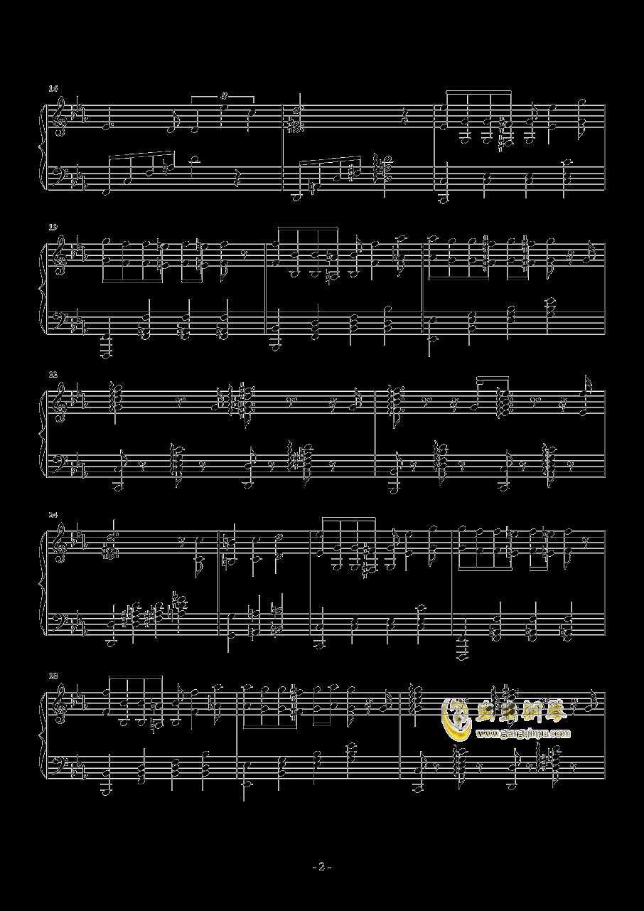 你永远不知道钢琴谱 第2页