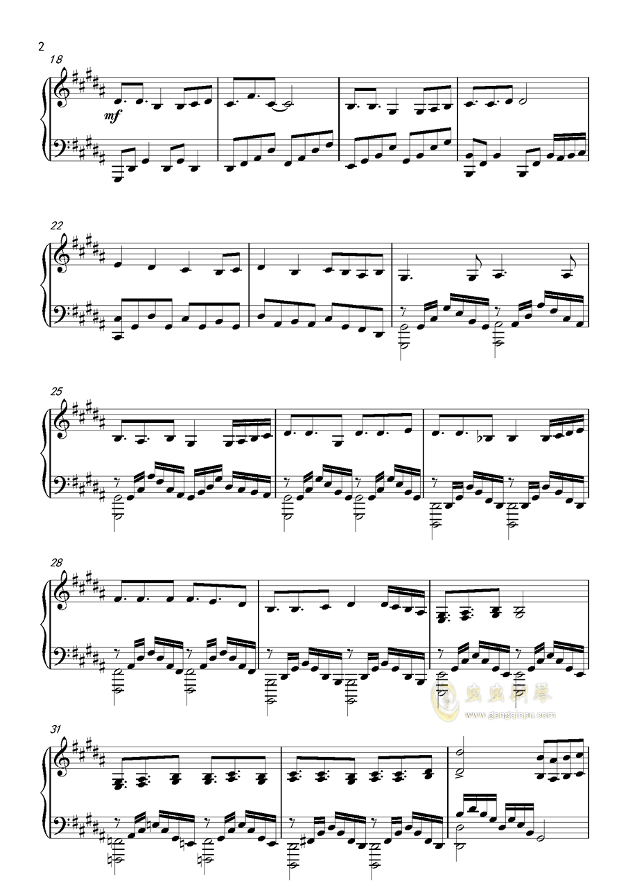Level5 Judgelight钢琴谱 第2页