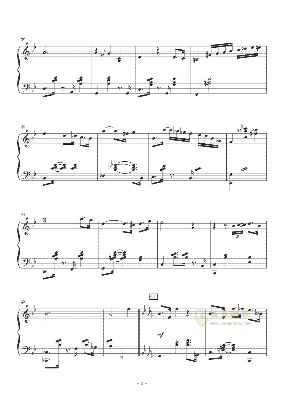 Sorosoro钢琴谱 第3页