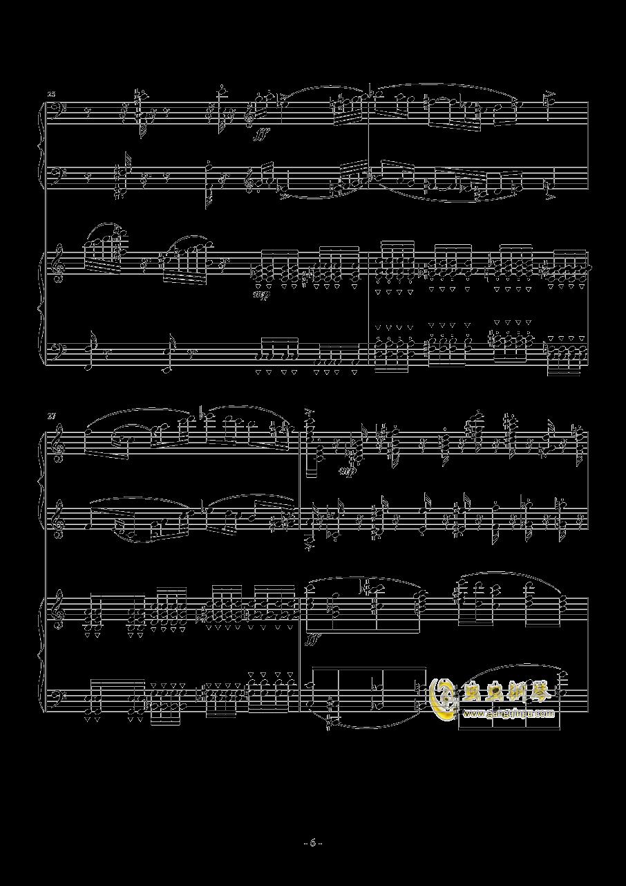 旅游协奏曲钢琴谱 第6页
