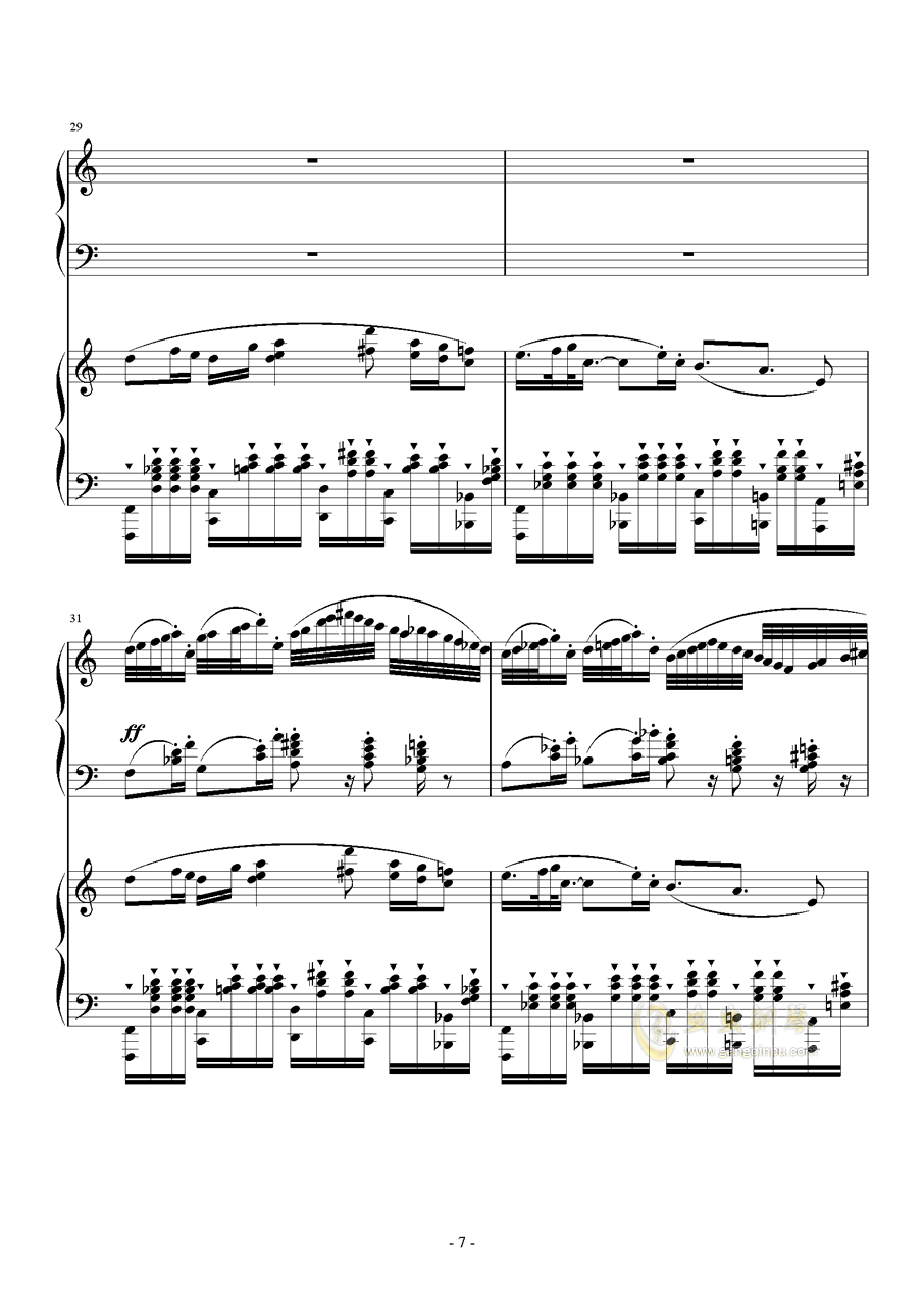 旅游协奏曲钢琴谱 第7页
