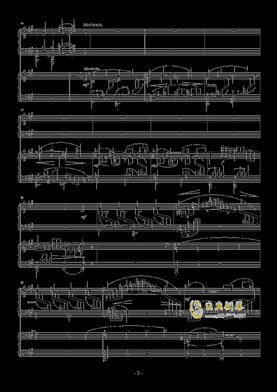拉赫玛尼诺夫第一钢琴协奏曲 Op.1钢琴谱 第2页