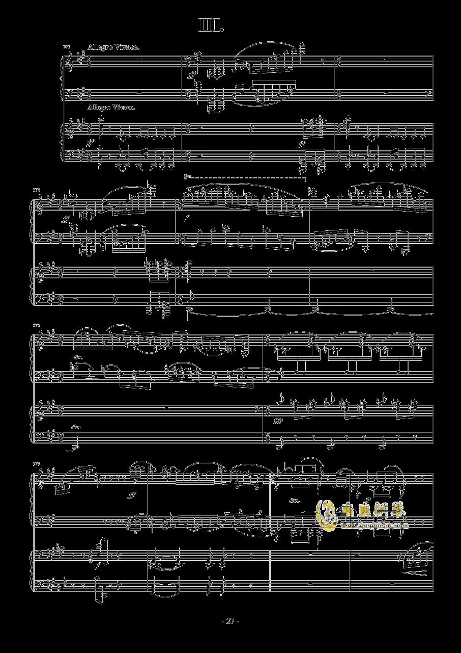 拉赫玛尼诺夫第一钢琴协奏曲 Op.1钢琴谱 第27页