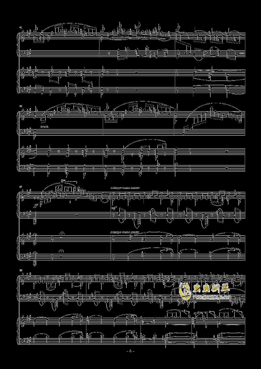 拉赫玛尼诺夫第一钢琴协奏曲 Op.1钢琴谱 第4页