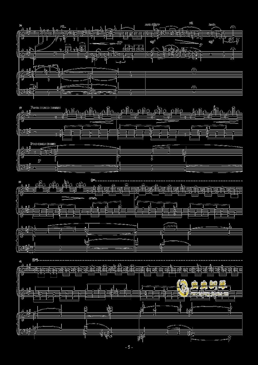 拉赫玛尼诺夫第一钢琴协奏曲 Op.1钢琴谱 第5页