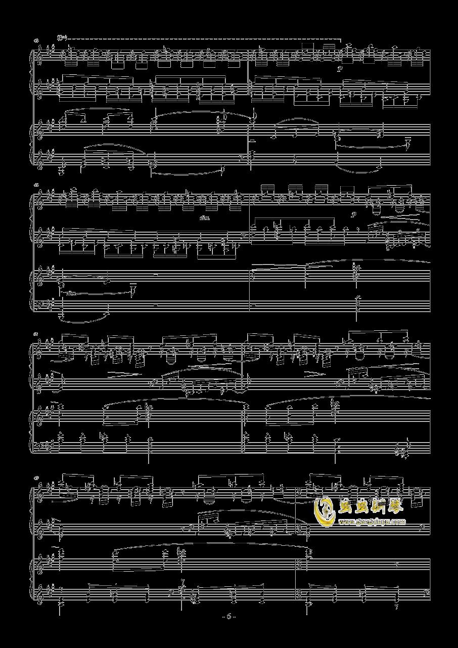 拉赫玛尼诺夫第一钢琴协奏曲 Op.1钢琴谱 第6页