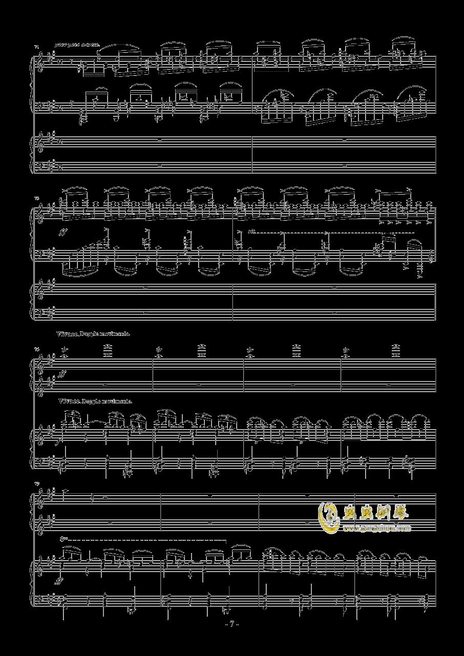 拉赫玛尼诺夫第一钢琴协奏曲 Op.1钢琴谱 第7页