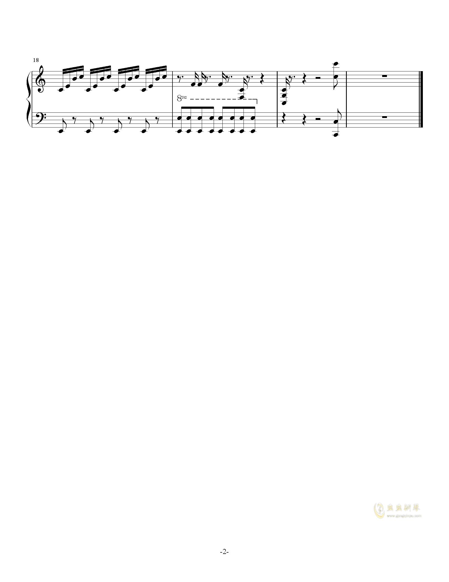 印象no.3钢琴谱 第2页