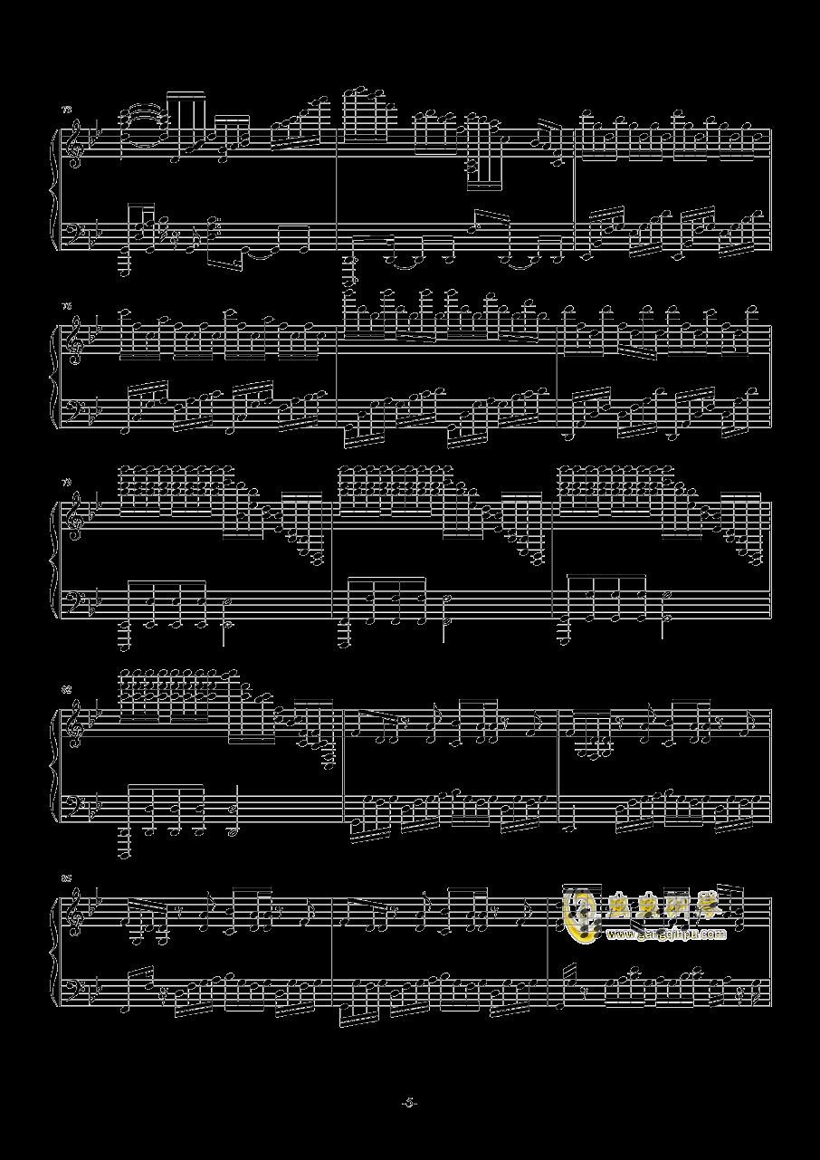 a叔未闻花名钢琴曲谱
