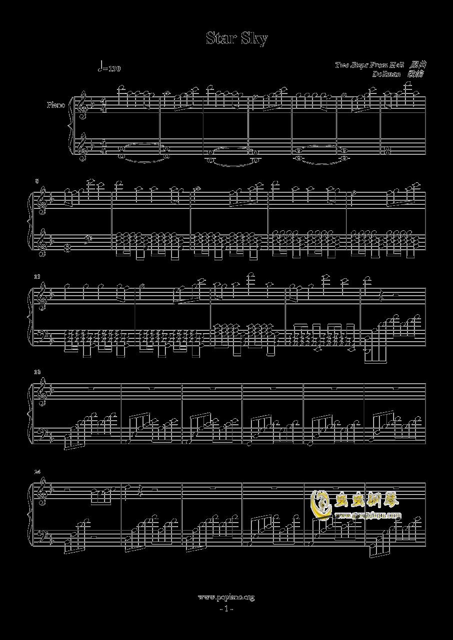 Star Sky钢琴谱 第1页