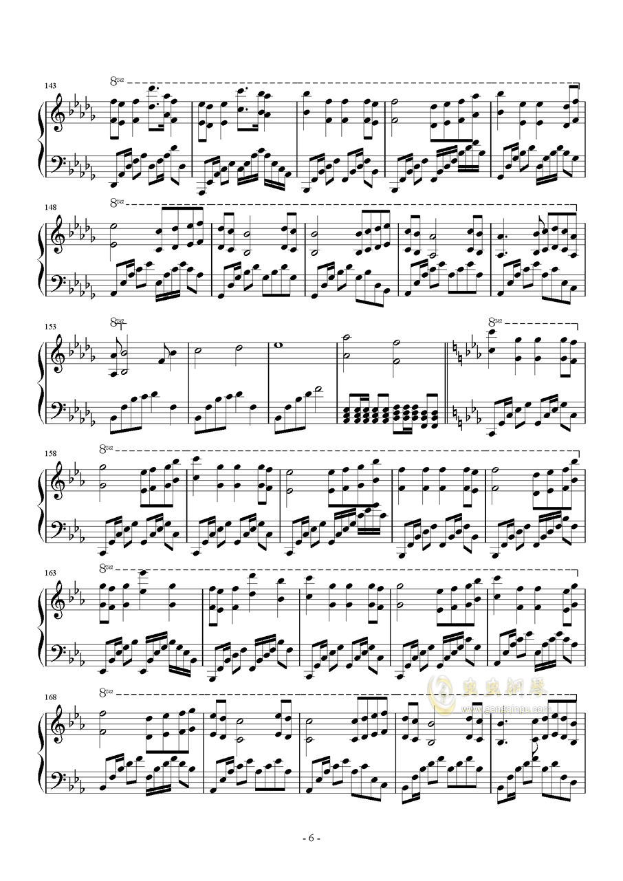 Star Sky钢琴谱 第6页