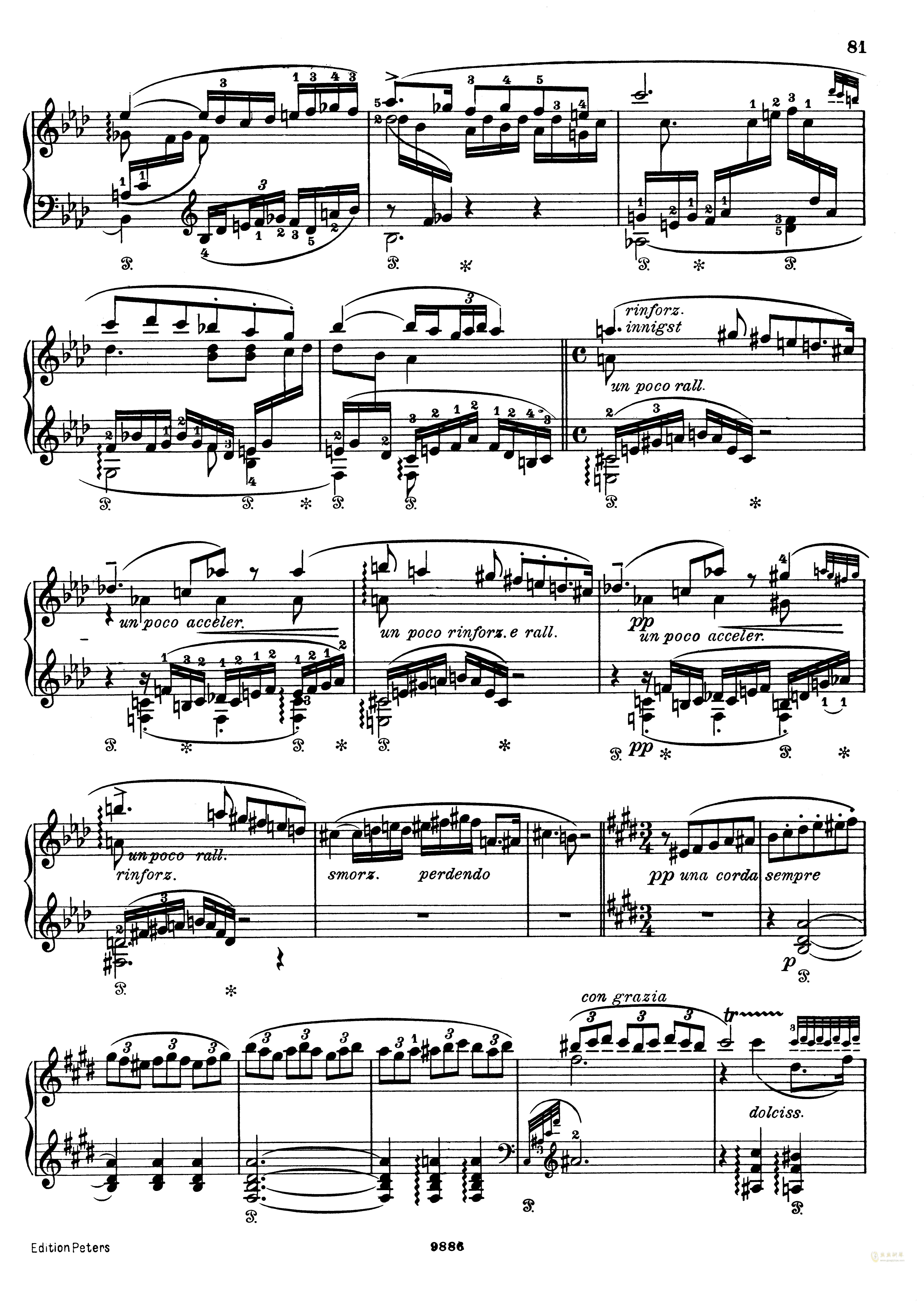 李斯特 浮士德交响曲 S.108 第二乐章,李斯特 浮士德交响曲 S.108 第
