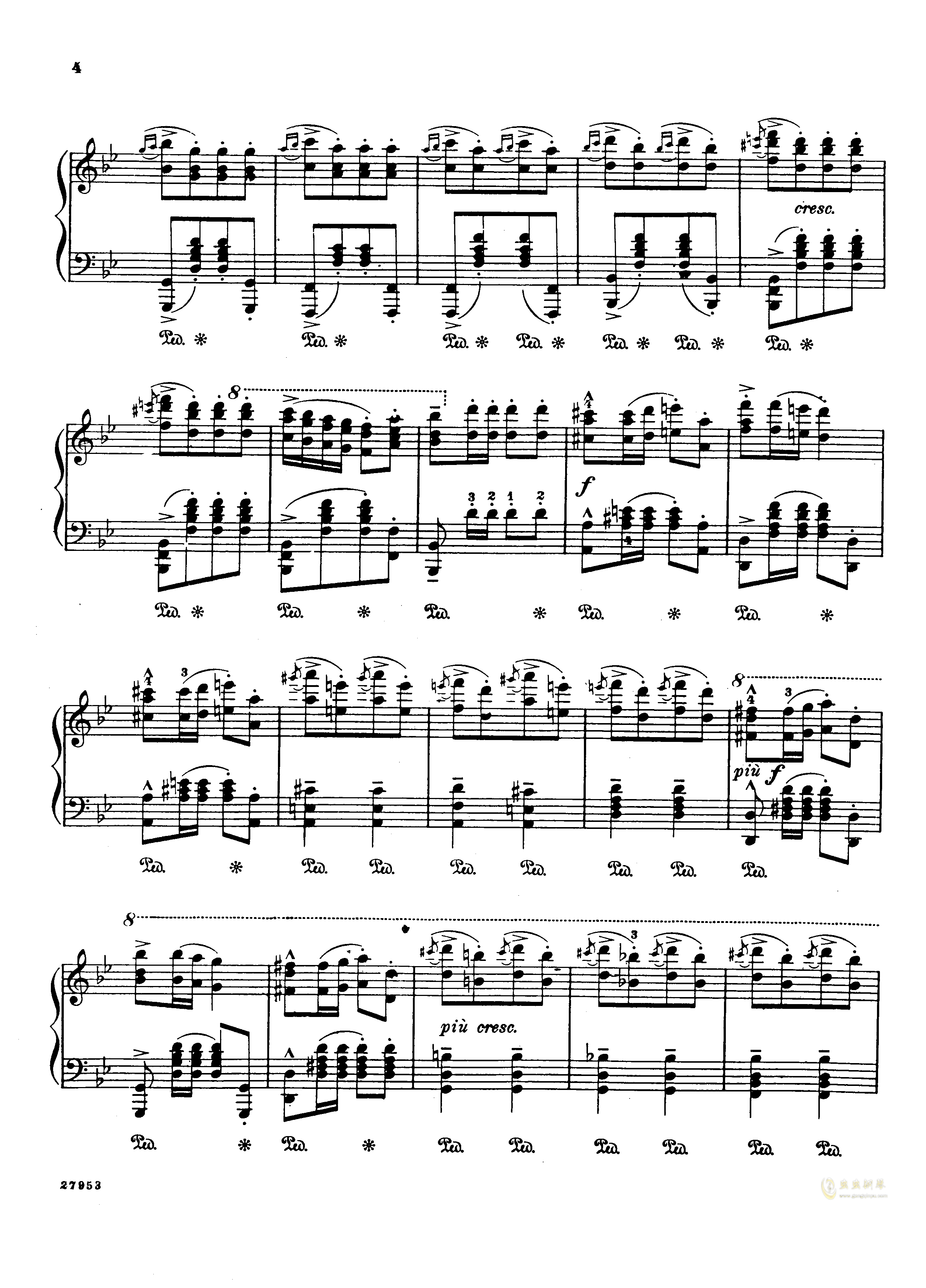 土耳其进行曲钢琴谱 第2页