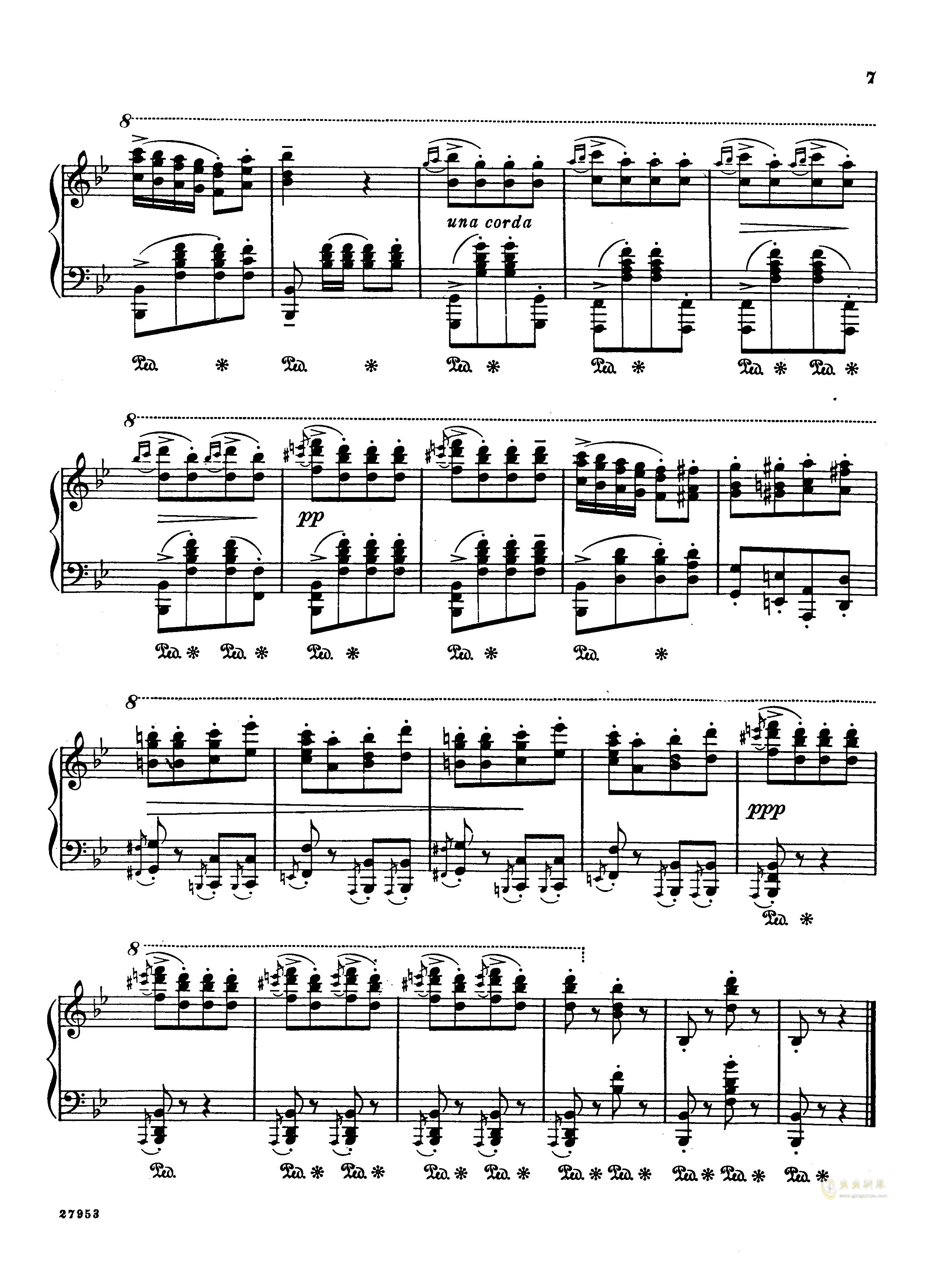 土耳其进行曲钢琴谱 第5页
