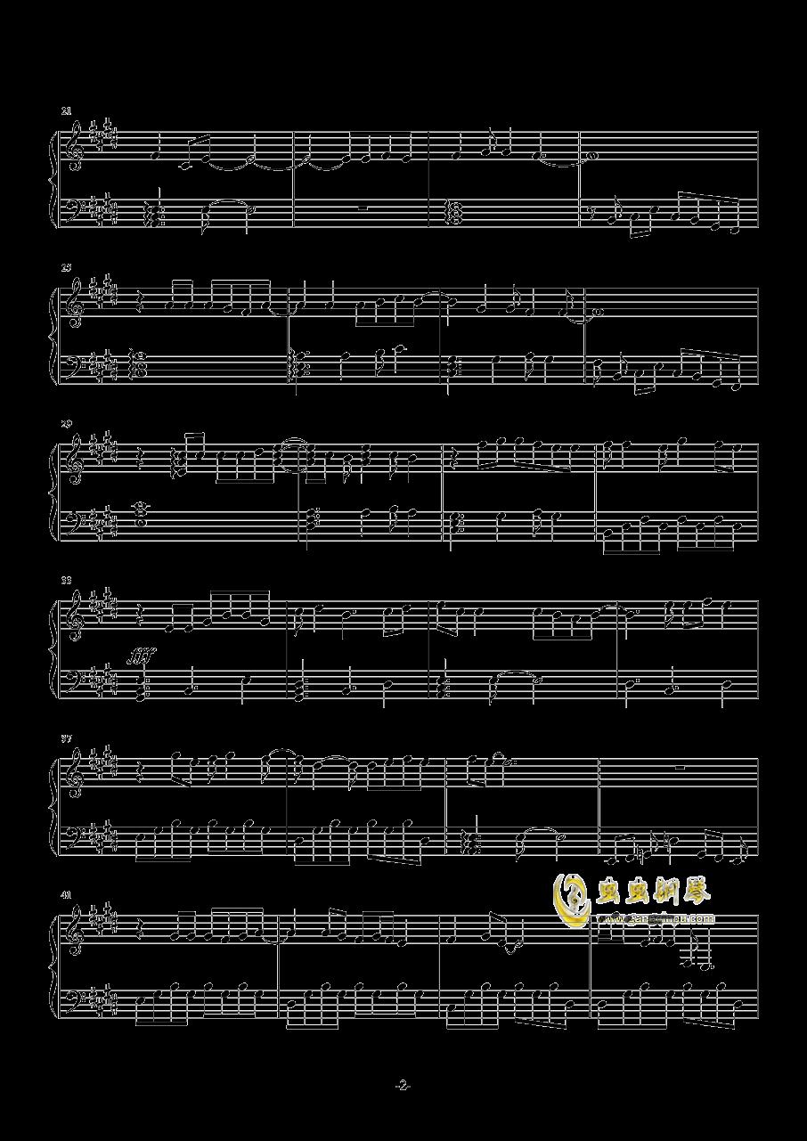 不再沉默钢琴谱 第2页