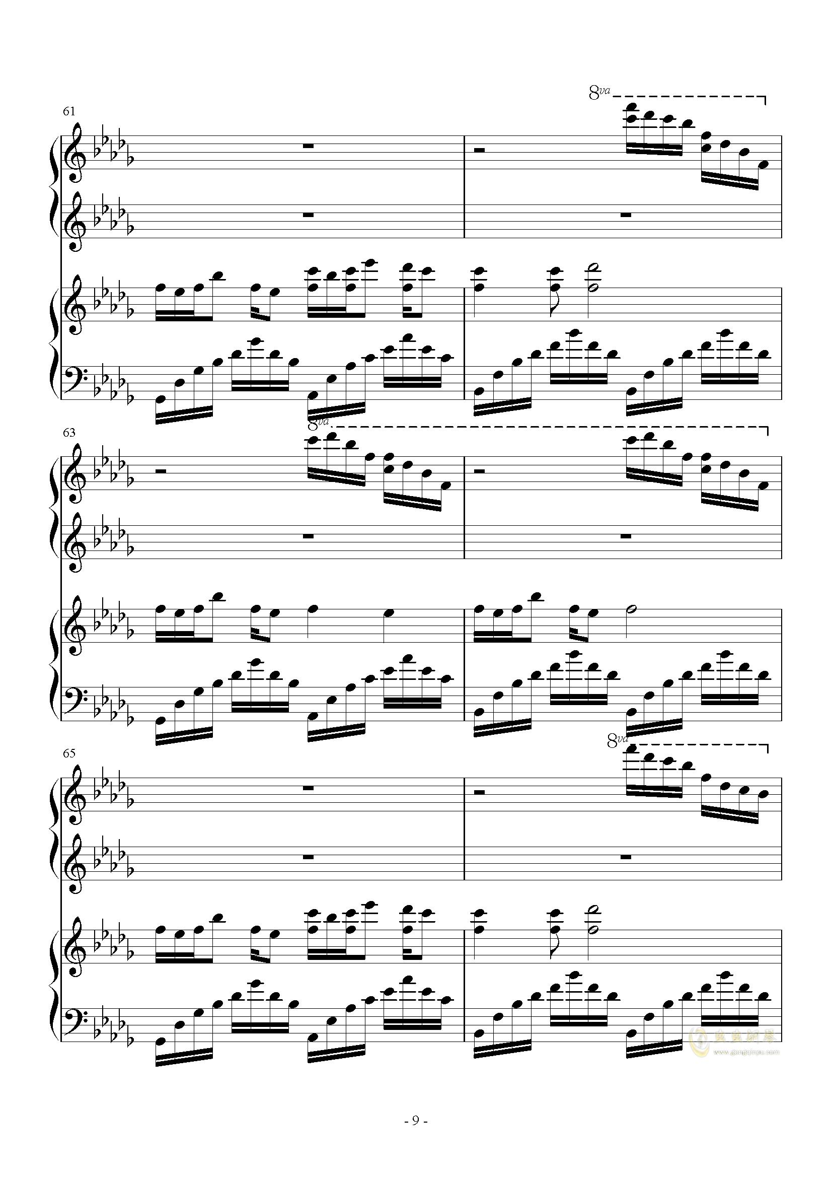 钢琴曲luv letter谱子