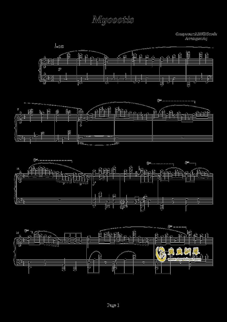 Myosotis钢琴谱_Deemo