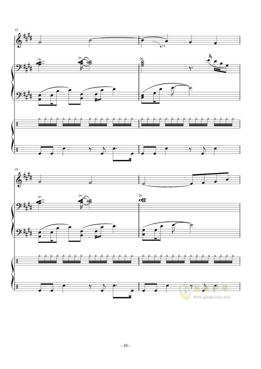 Represent - Dj Okawari钢琴谱 第10页