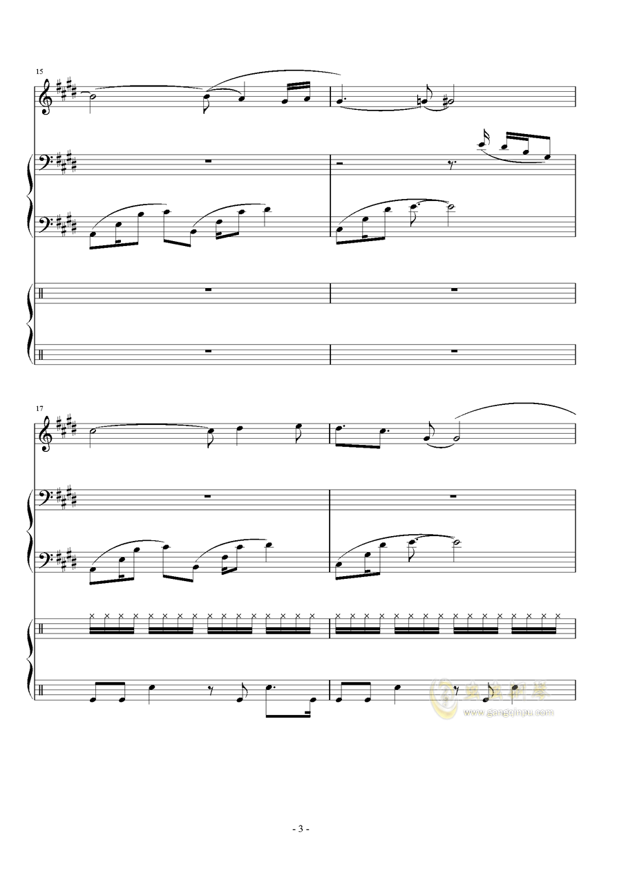 Represent - Dj Okawari钢琴谱 第3页