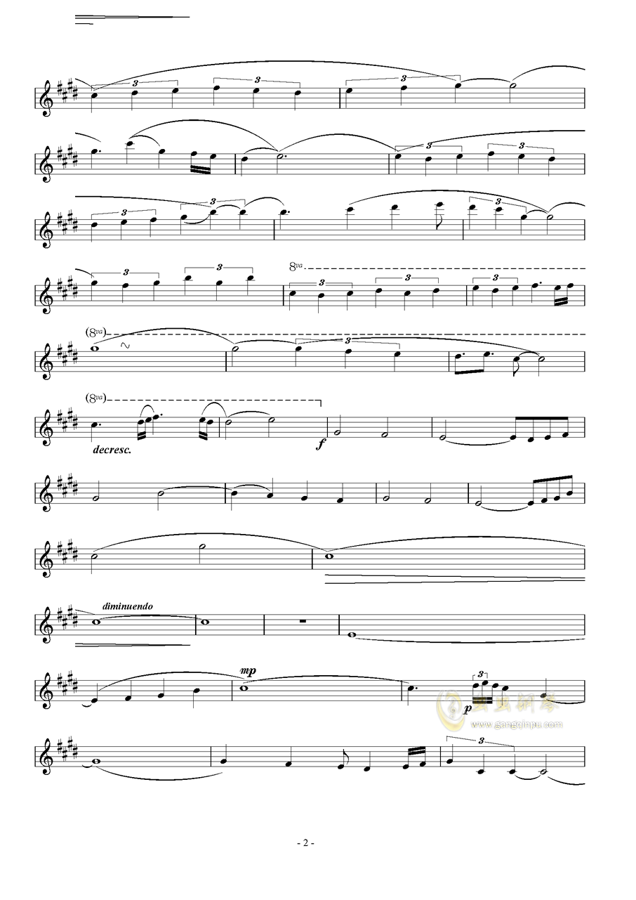 Represent钢琴谱 第2页