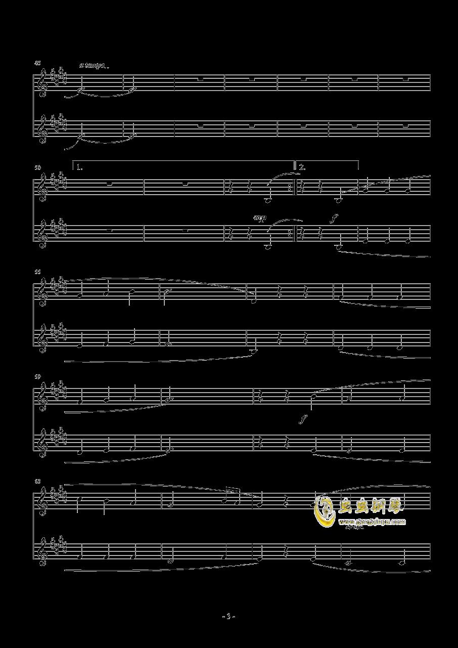 乘着歌声的翅膀钢琴谱 第3页