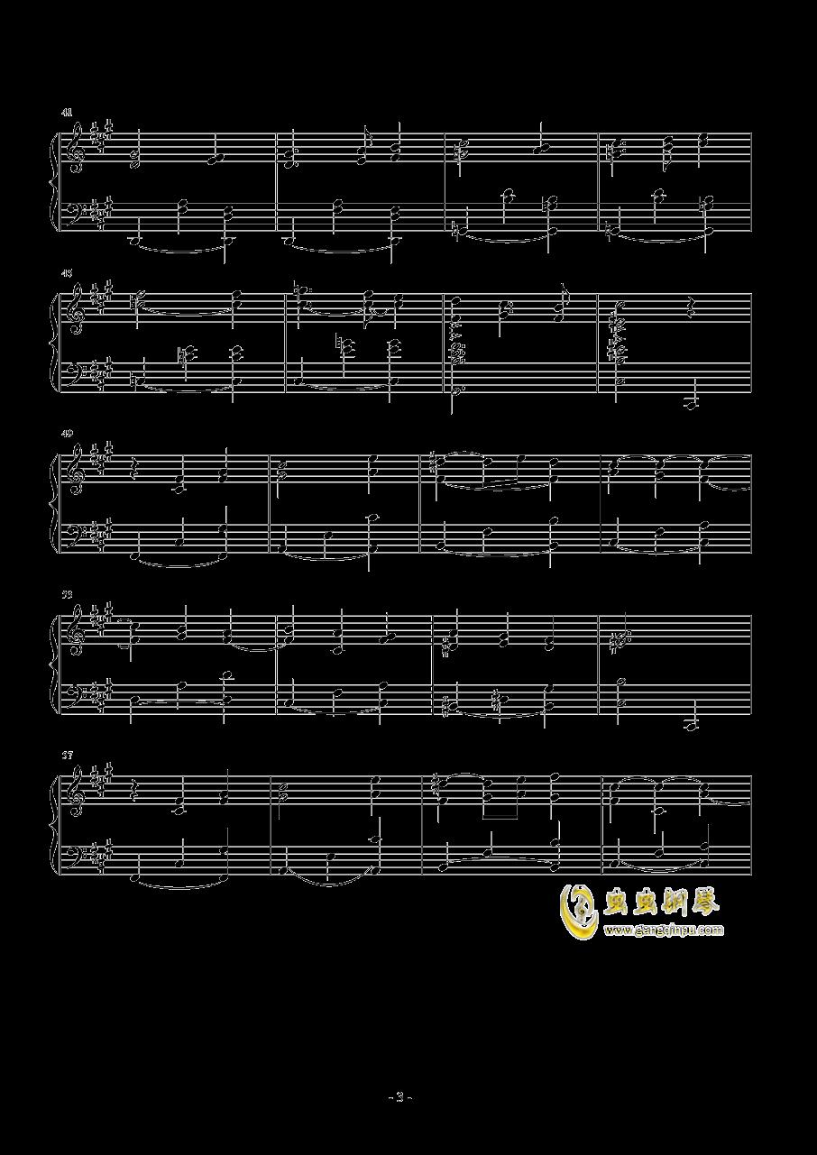 梦中的相遇钢琴谱 第3页