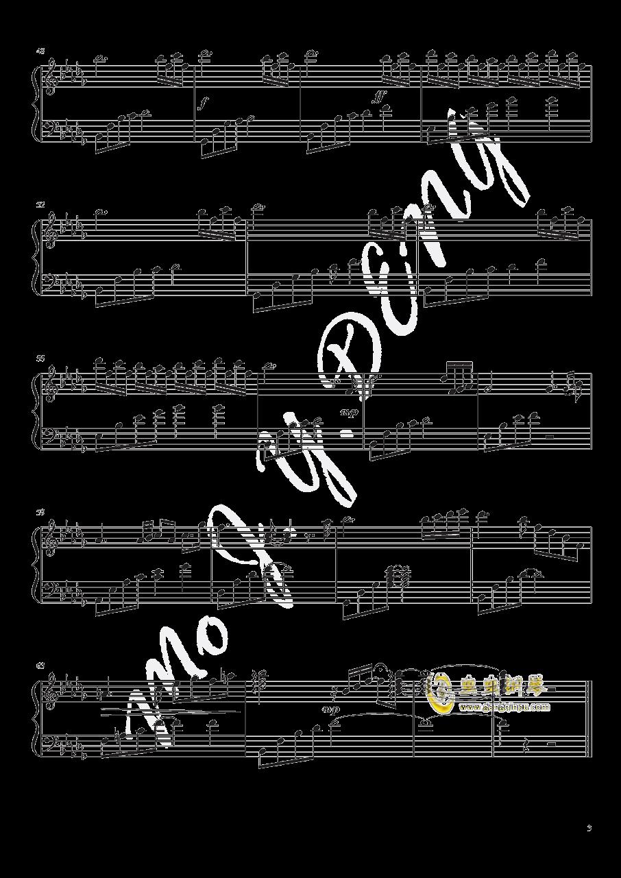 眼泪钢琴谱 第3页