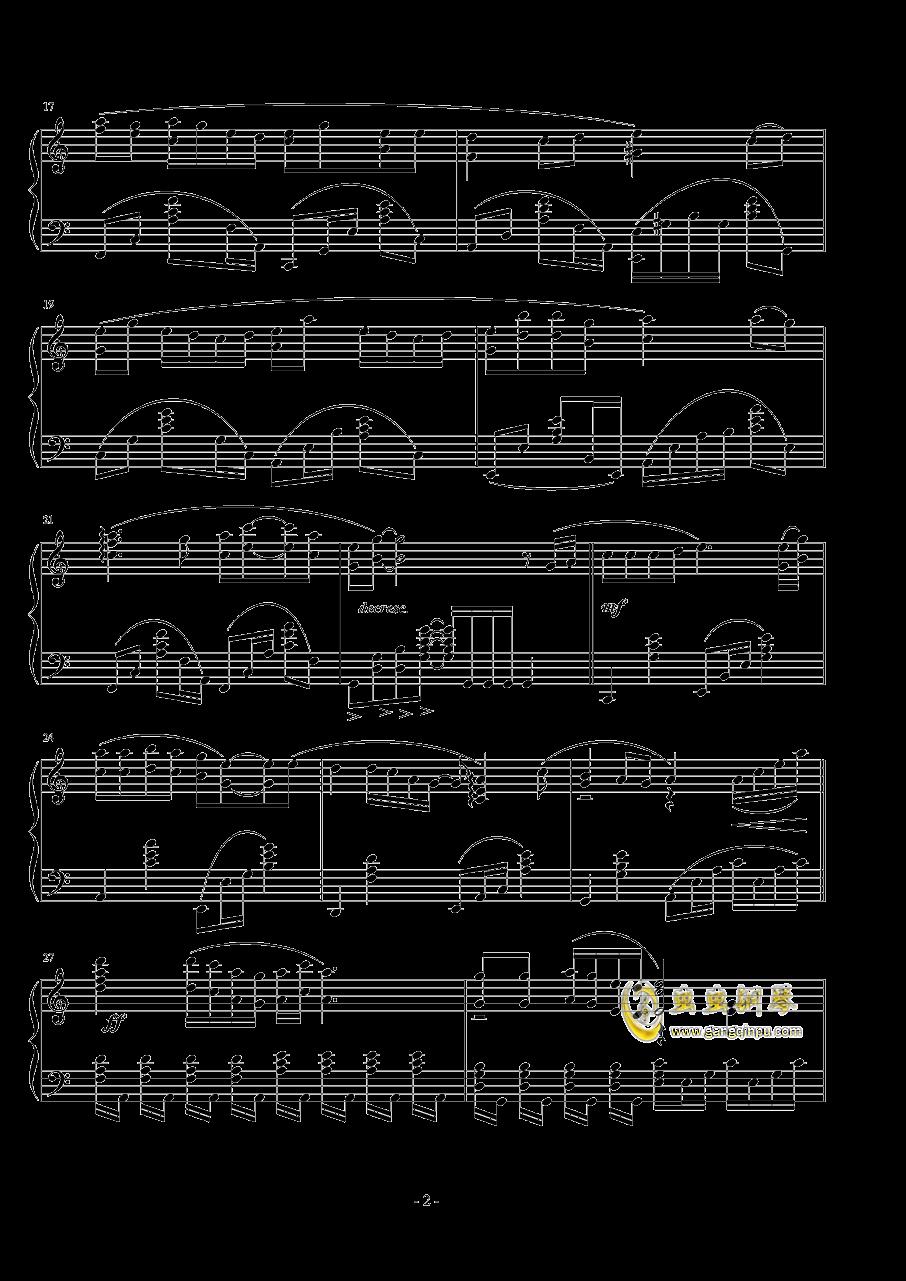 容易受��的女人钢琴谱 第2页