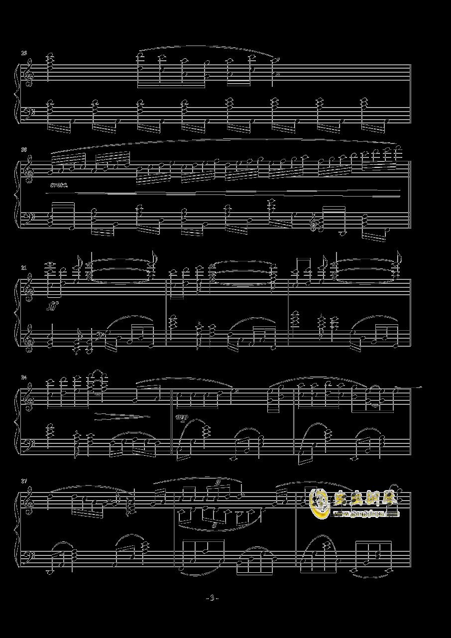 容易受��的女人钢琴谱 第3页