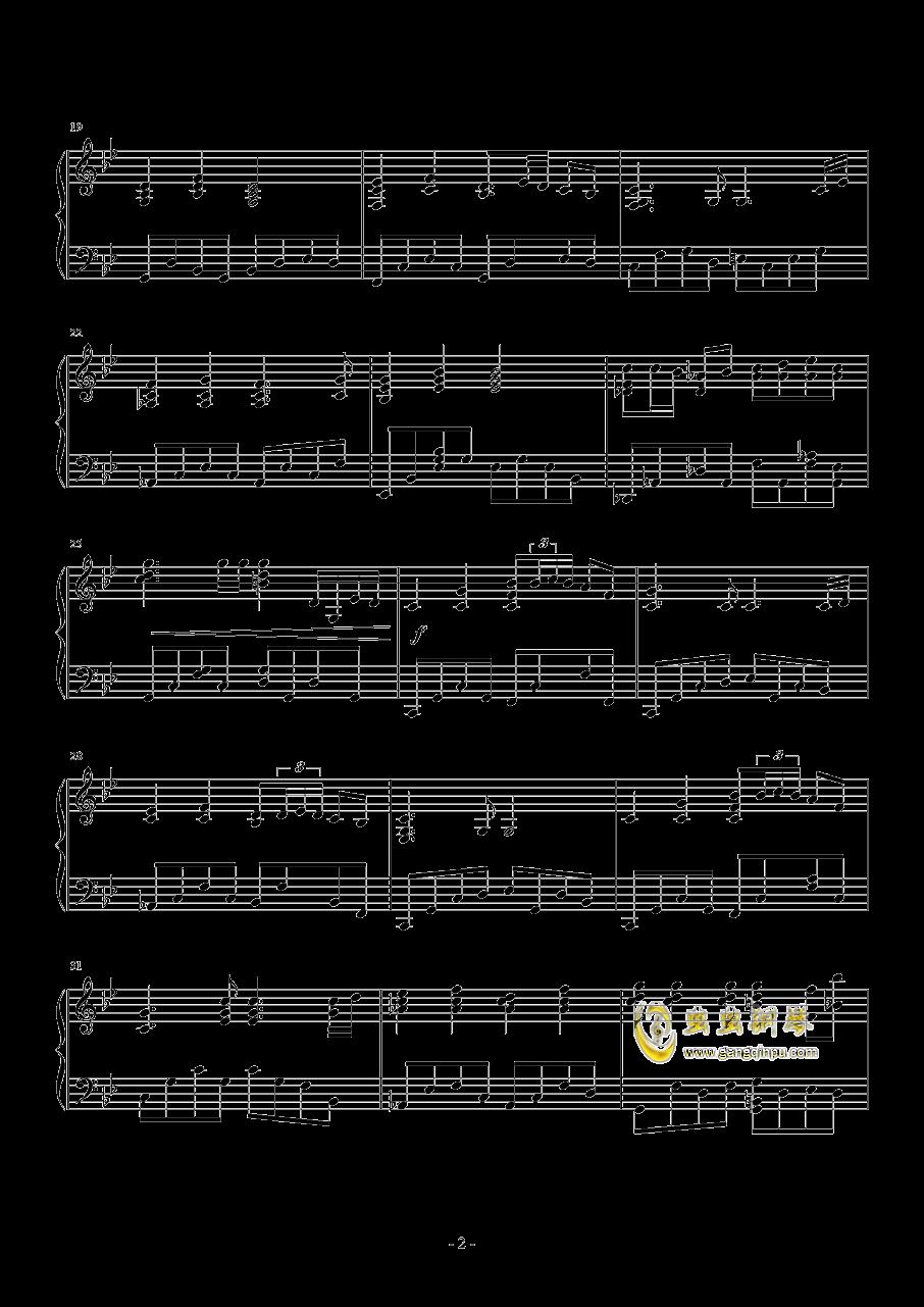 �鹗宽�歌钢琴谱 第2页