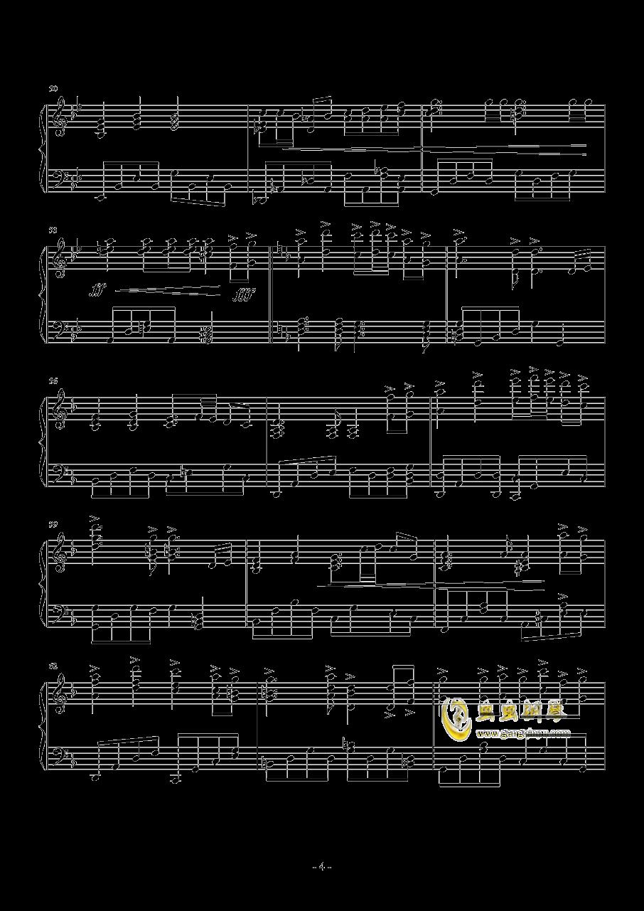 �鹗宽�歌钢琴谱 第4页