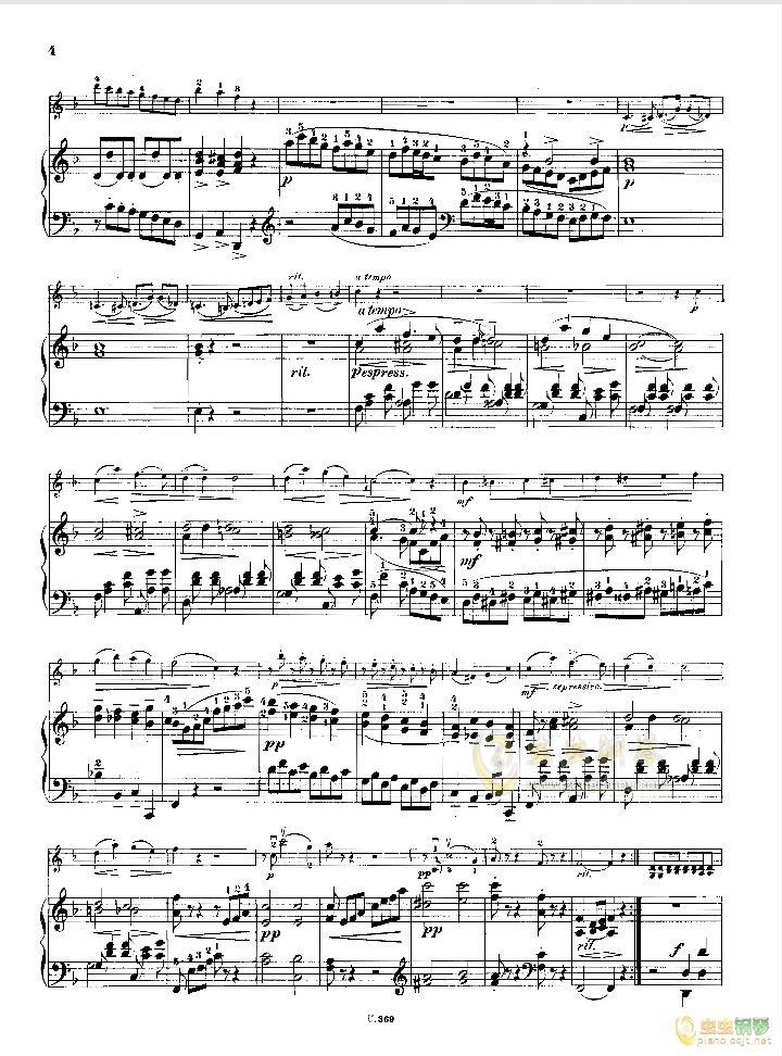 小提琴小奏鸣曲钢琴谱 第2页