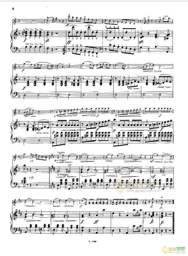 小提琴小奏鸣曲钢琴谱 第4页