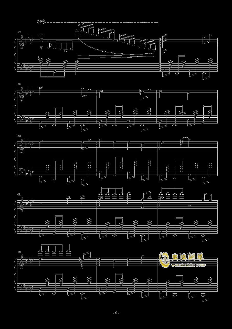 忍者棒棒钢琴谱 第4页