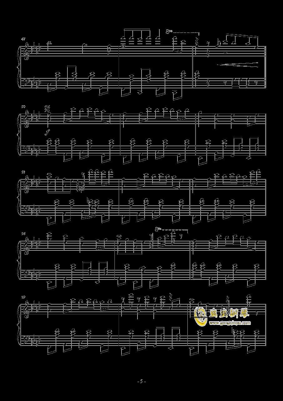 忍者棒棒钢琴谱 第5页