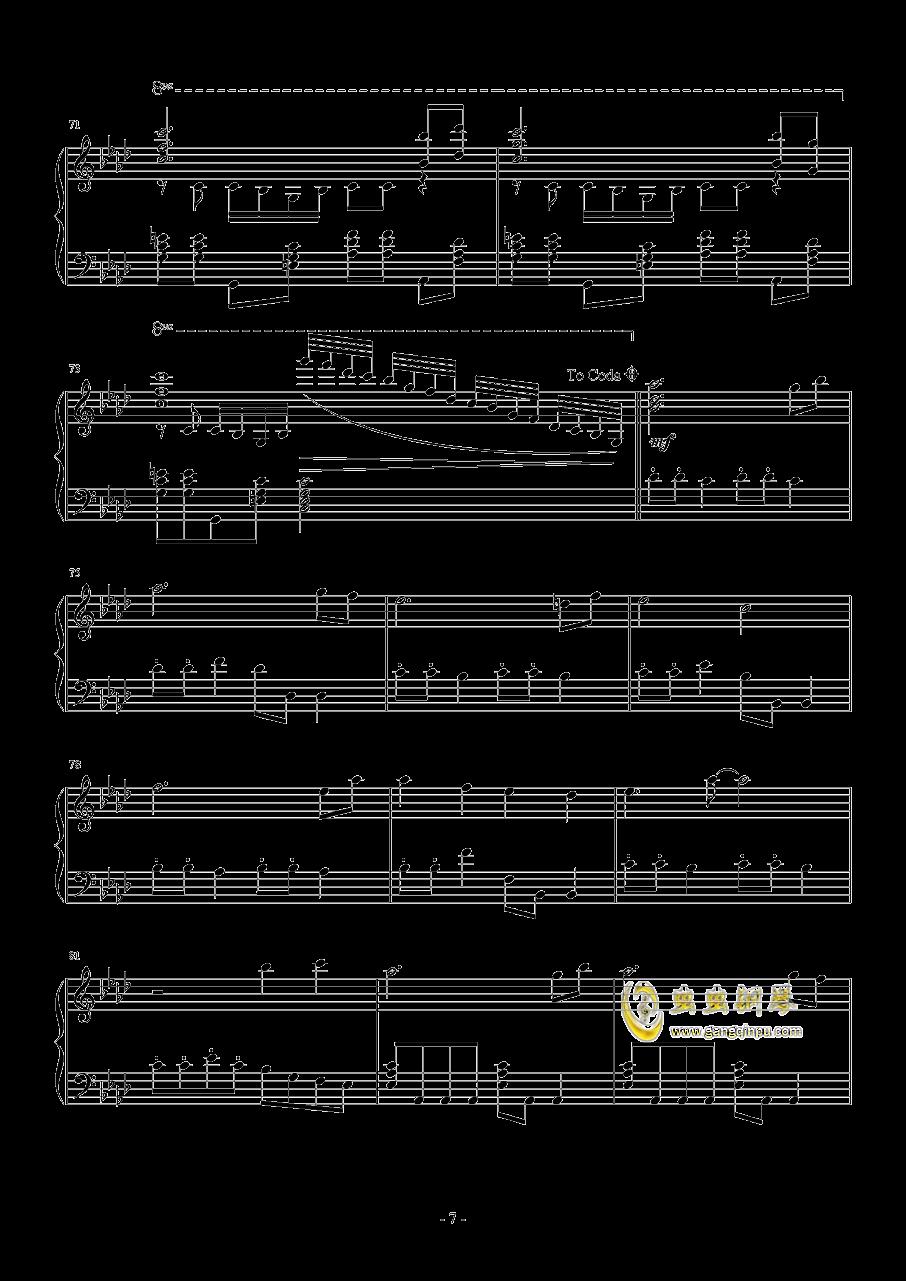 忍者棒棒钢琴谱 第7页