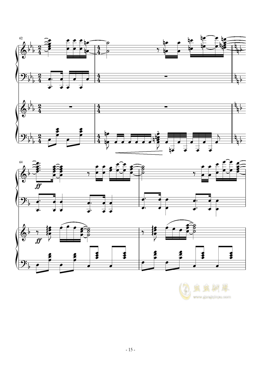 Hawaii Five钢琴谱 第15页