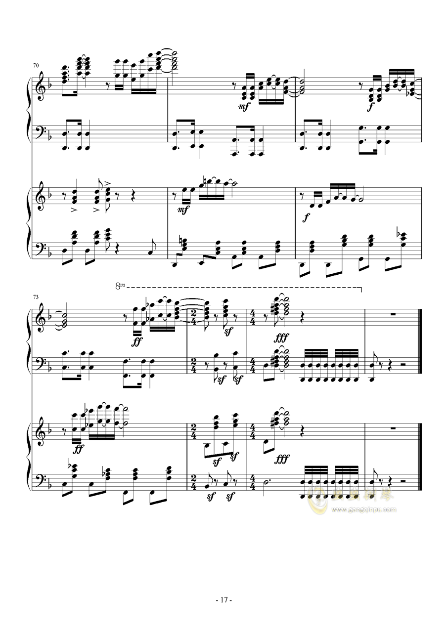 Hawaii Five钢琴谱 第17页