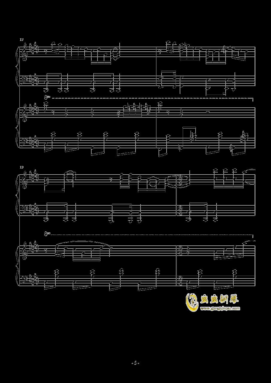 Hawaii Five钢琴谱 第5页