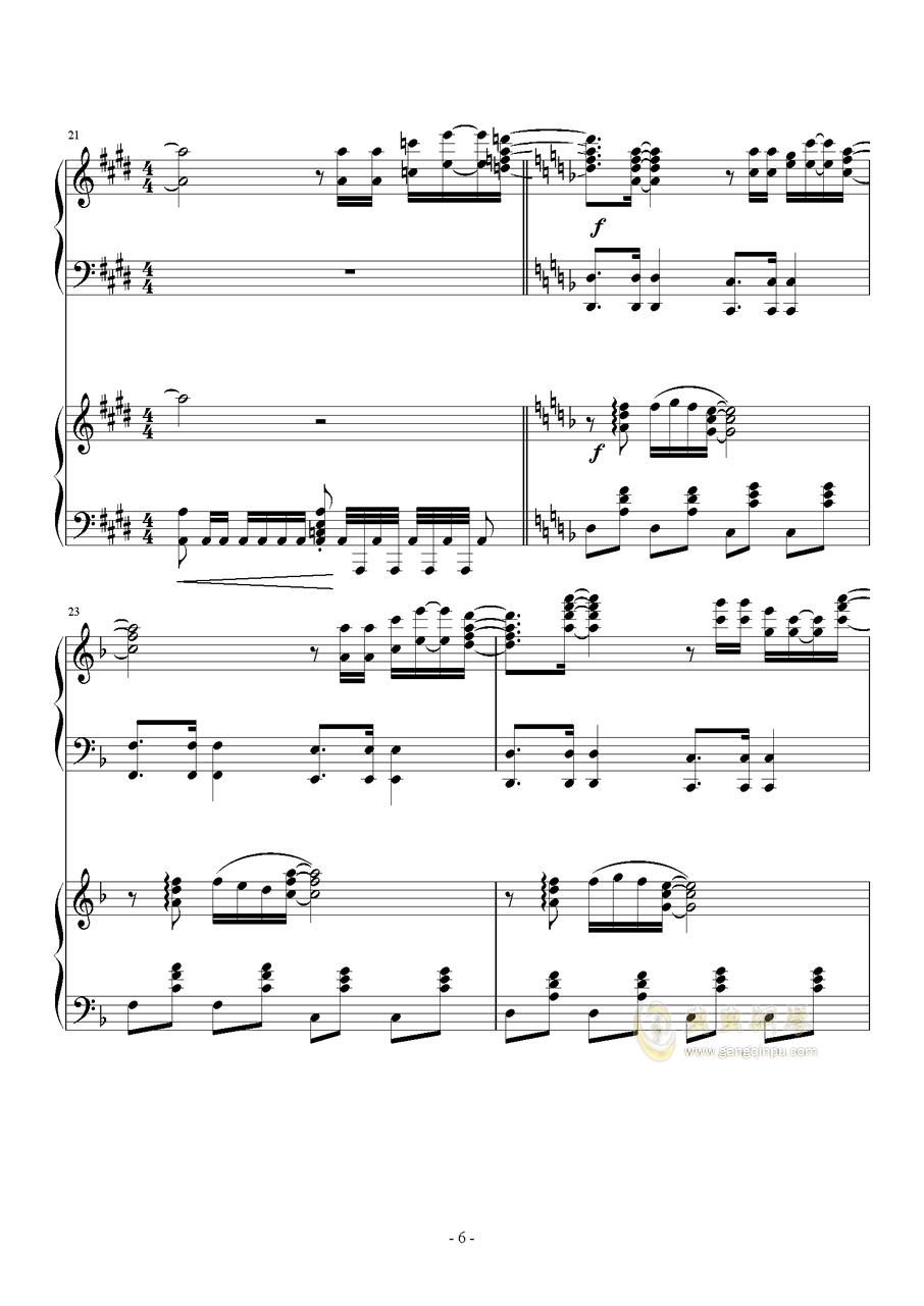 Hawaii Five钢琴谱 第6页