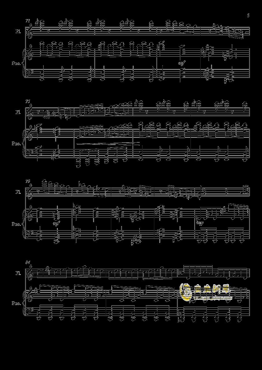 即兴曲3钢琴谱 第5页