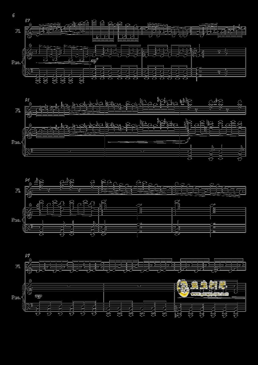 即兴曲3钢琴谱 第6页