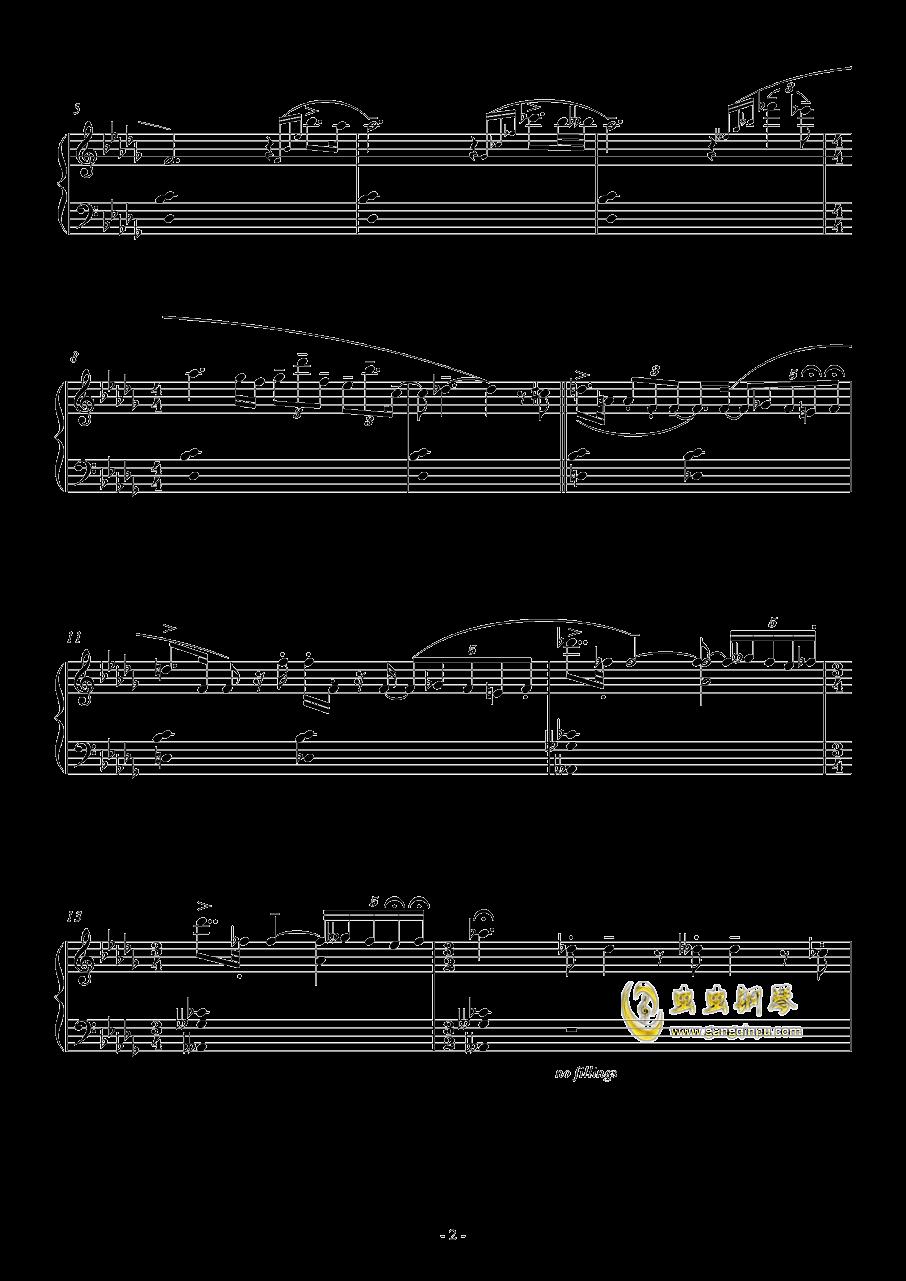 咏叹调钢琴谱 第2页