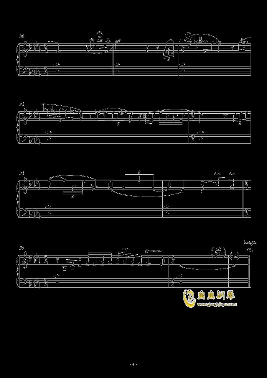 咏叹调钢琴谱 第4页
