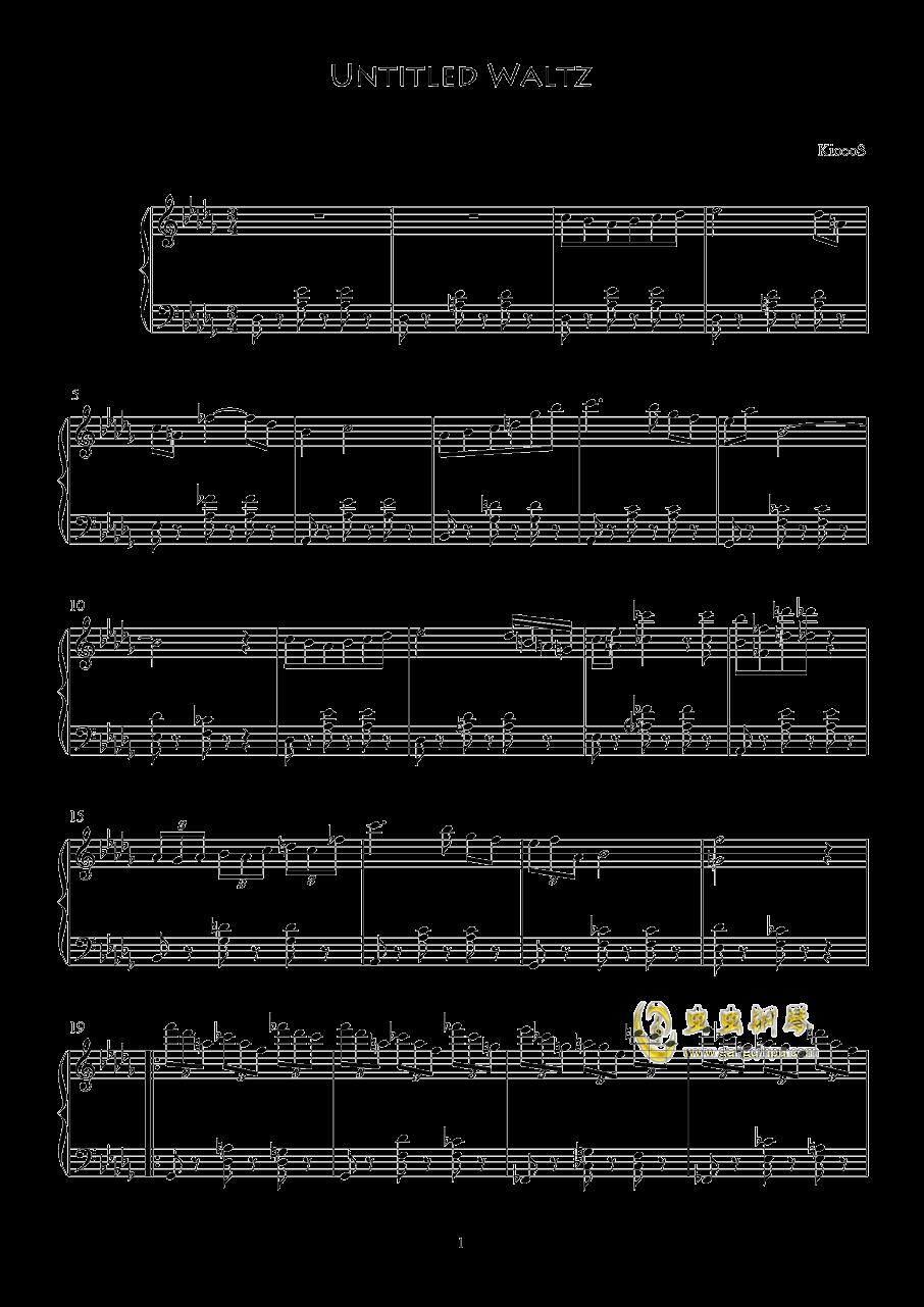 Untitled Waltz钢琴谱 第1页