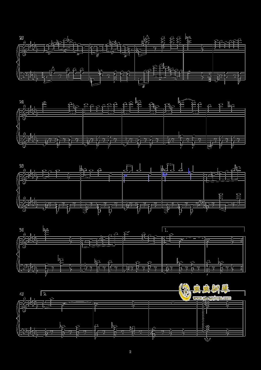Untitled Waltz钢琴谱 第2页
