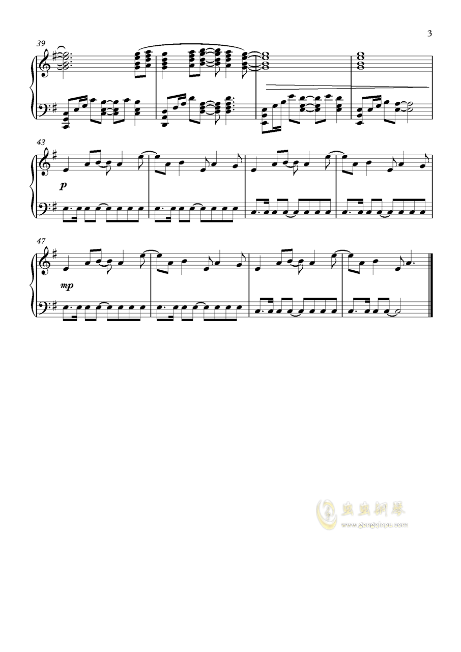 Audrey钢琴谱 第3页