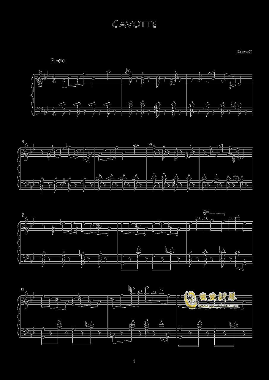加伏特舞曲钢琴谱 第1页