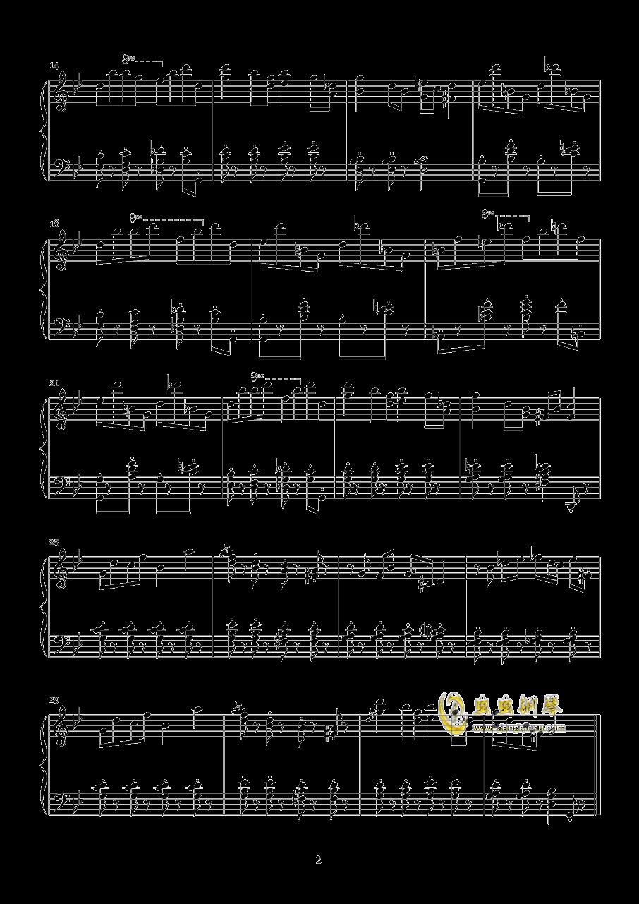 加伏特舞曲钢琴谱 第2页